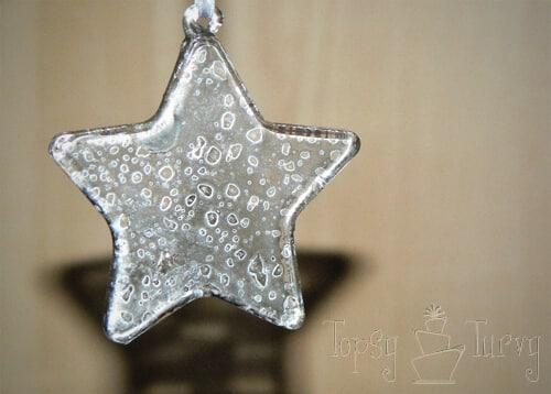 mercury glass star ornaments finished