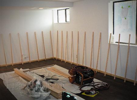 living room board and batten prep