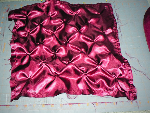 satin pin-tuck pillow french seam
