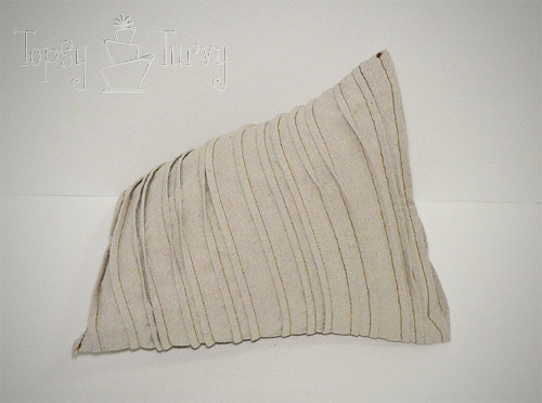 painters drop cloth stripped triangle pillow finished