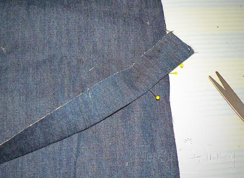 denim herringbone pillow sewing