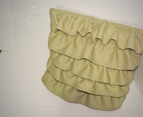 bed skirt pillow ruffled finished