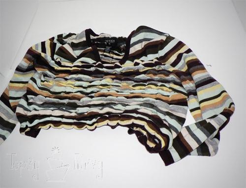 sewing pillows elastic thread ruffles sweater