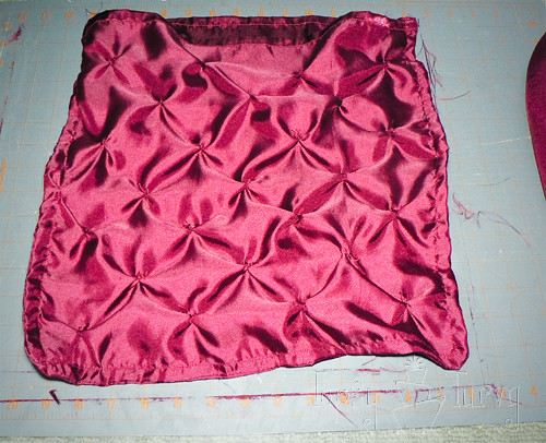 satin pin-tuck pillow french seam