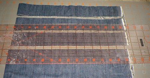 denim herringbone pillow cut strips