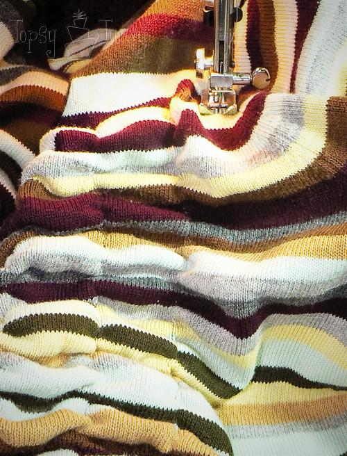 sewing pillows elastic thread ruffles
