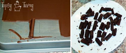 chocolate curl wedding cake curling