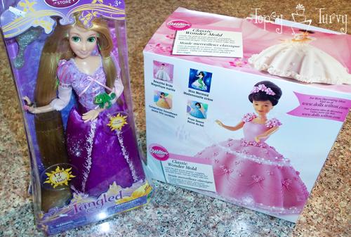 Princess Rapunzel barbie birthday cake tutorial