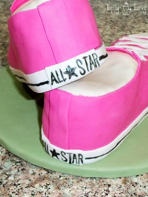 converse shoe cake fondant birthday details