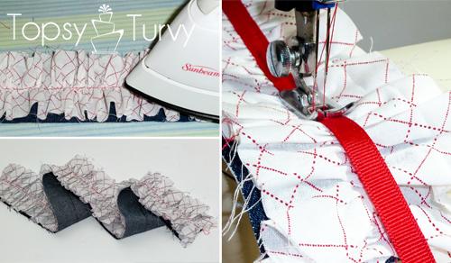 make-ruffled-camera-strap-ironing-add-ribbon