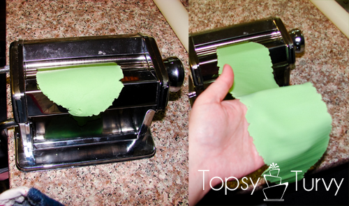 using-silhouette-machine-cut-fondant-pasta-maker