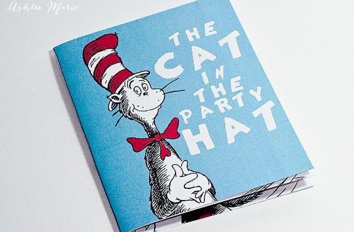 Dr seuss story book party invitation