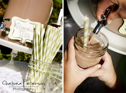 ice-cream-parlor-birthday-party-chocolate-milk-mason-jar-glasses