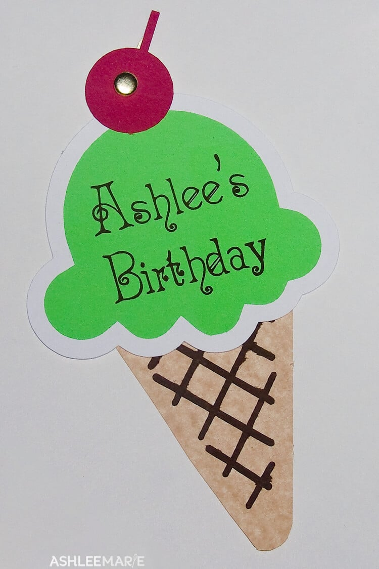 ice cream cone birthday invitation