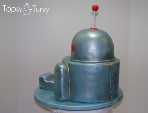Robot-cake-birthday-fondant