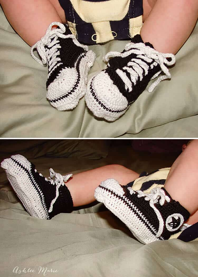 there isn't much cuter than crochet converse on infants