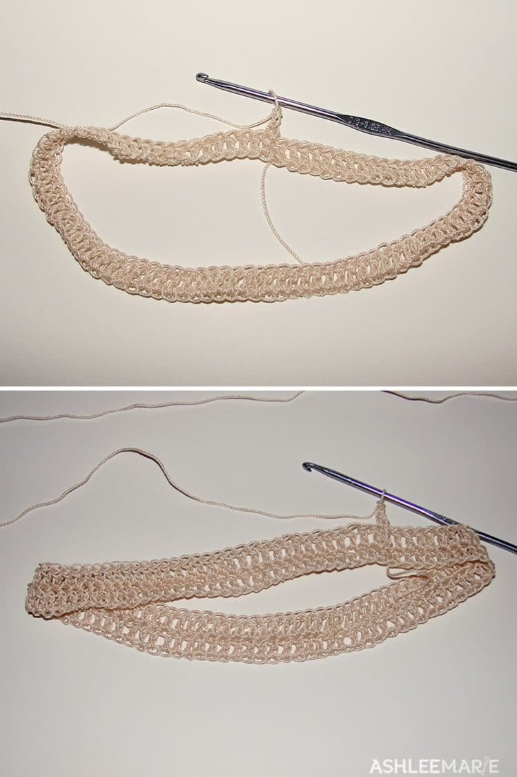 thread crochet crown base