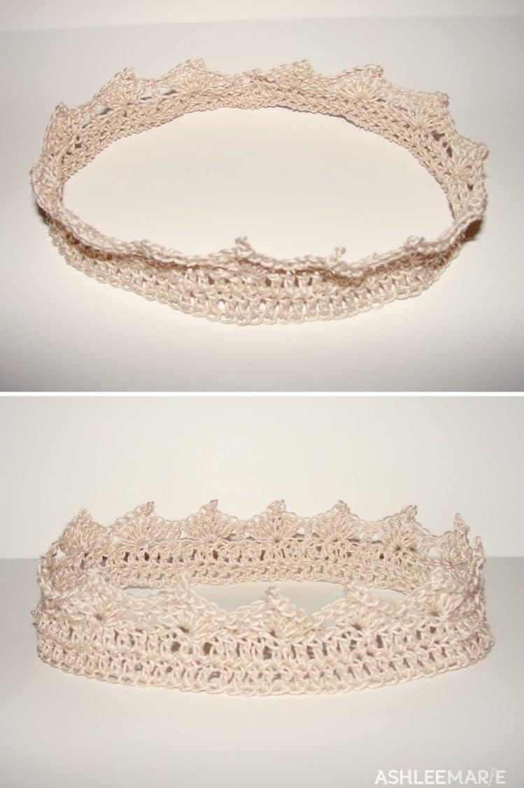 thread crochet crown points