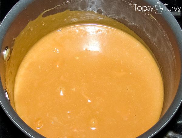 caramel-brownies-melting
