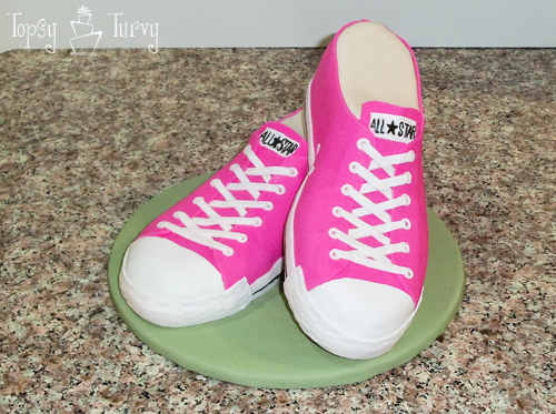 fondant cake converse shoes carved