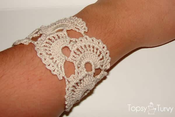 Queen Annes Lace Crochet Tutorial Bracelet Ashlee Marie Real
