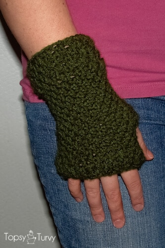 Crochet Fingerless Gloves Ashlee Marie Real Fun With Real Food