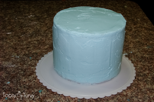blue-chevron-ombre-birthday-cake-frosted