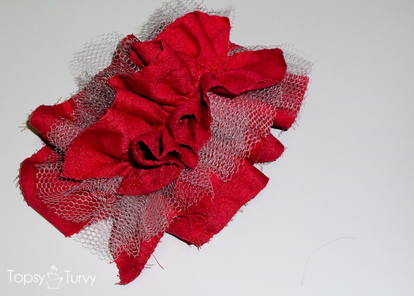 large-red-ruffled-tulle-headband-layered
