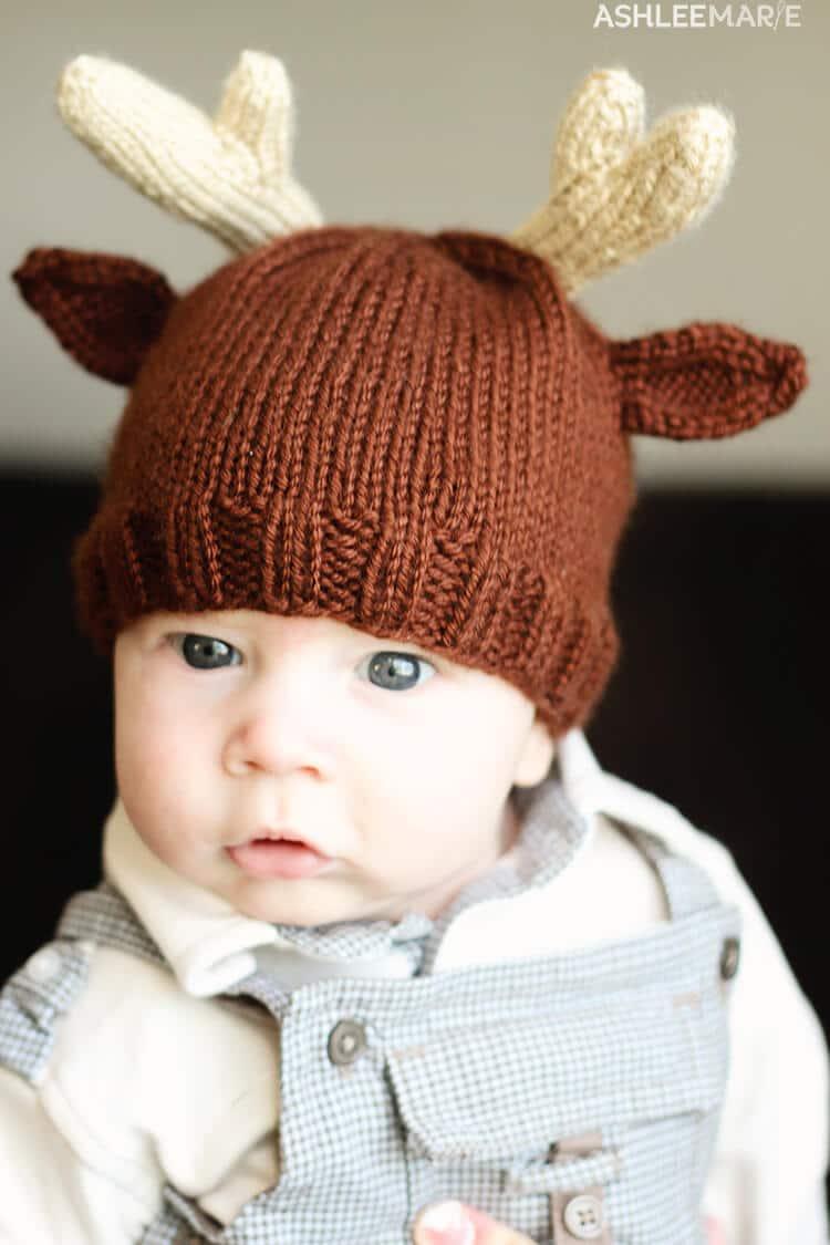 f719169bb0e7 Knit Reindeer Beanie