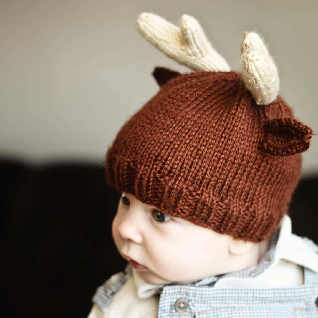 facb12056 Knit Reindeer Beanie | Ashlee Marie - real fun with real food