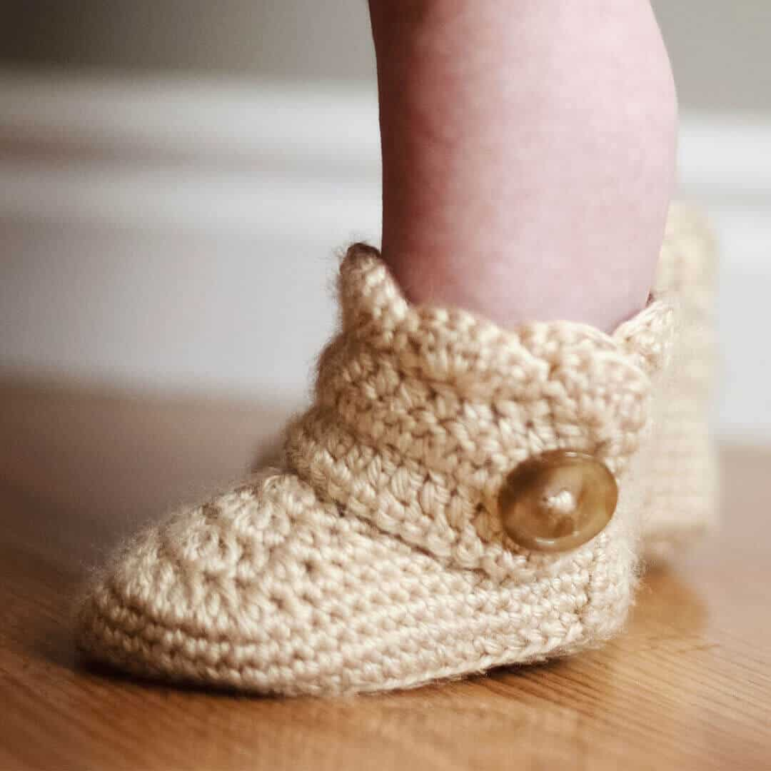 441d02f5b Crochet wrap around button infant boots- girls and boys
