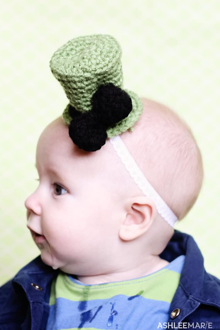 Bow crochet top hat free pattern