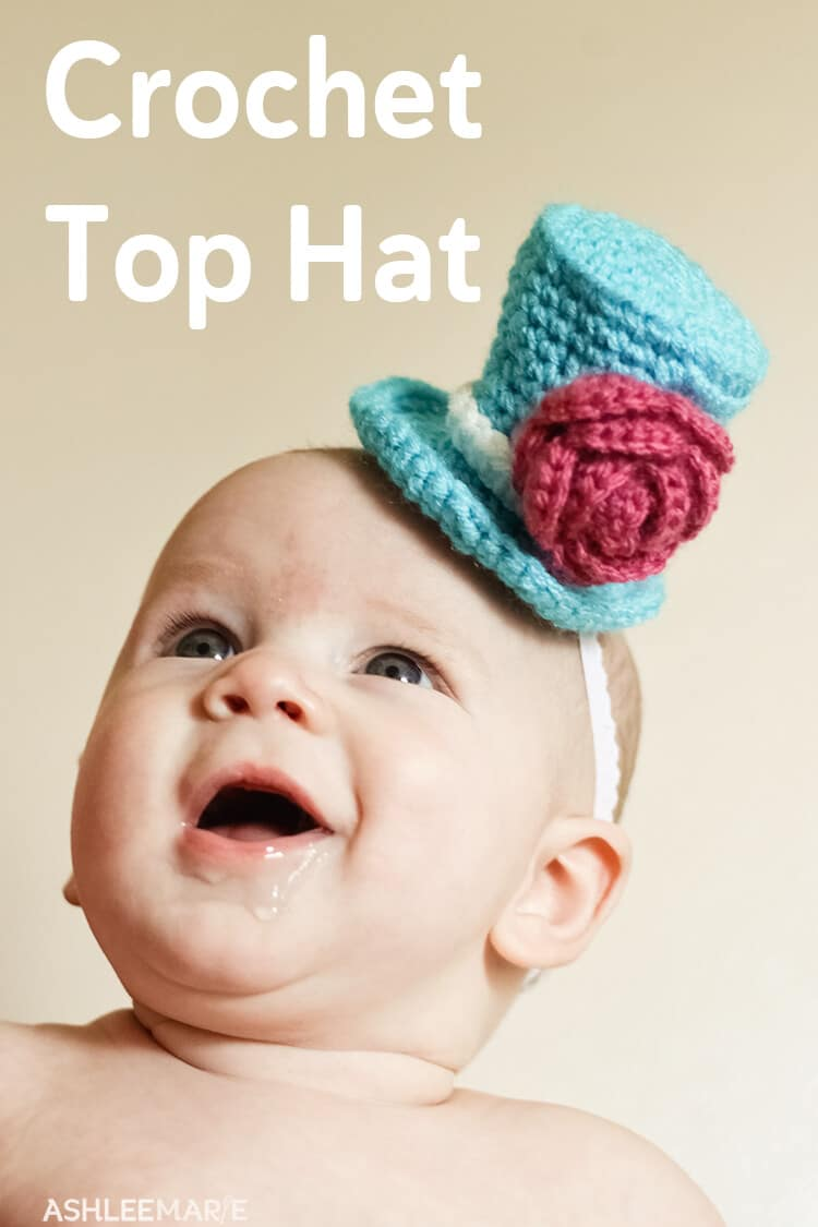 Mini crochet top hat pattern
