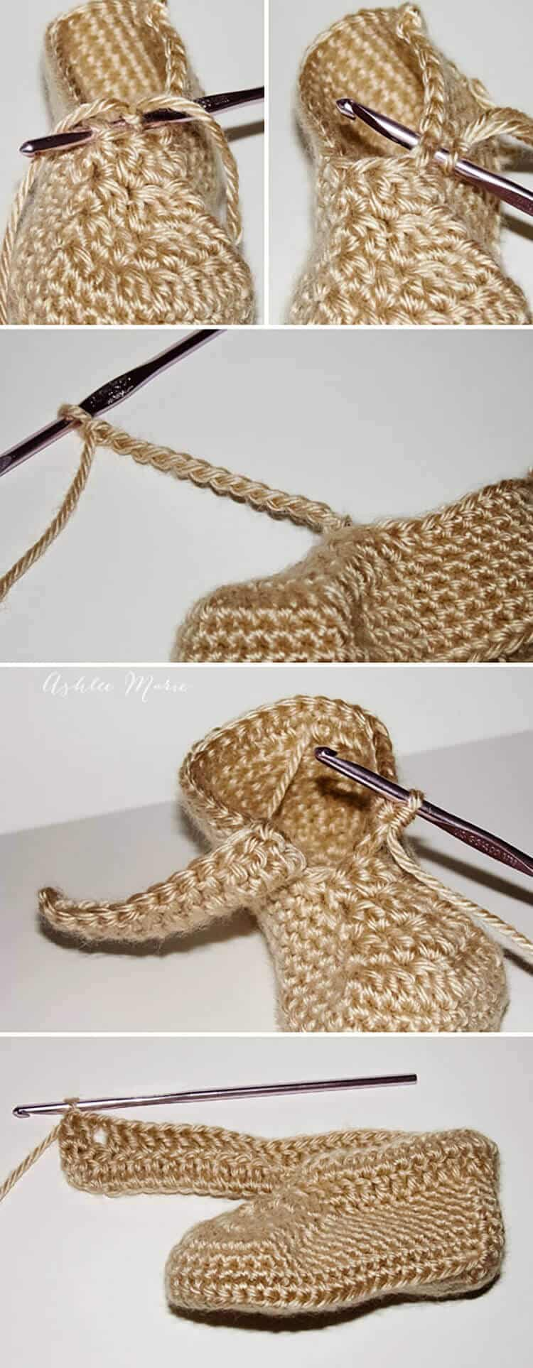 where to put the cuff and how to make it, free crochet wrap around boot pattern