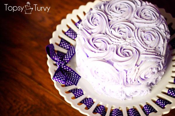 purple-rosette-buttercream-smash-cake
