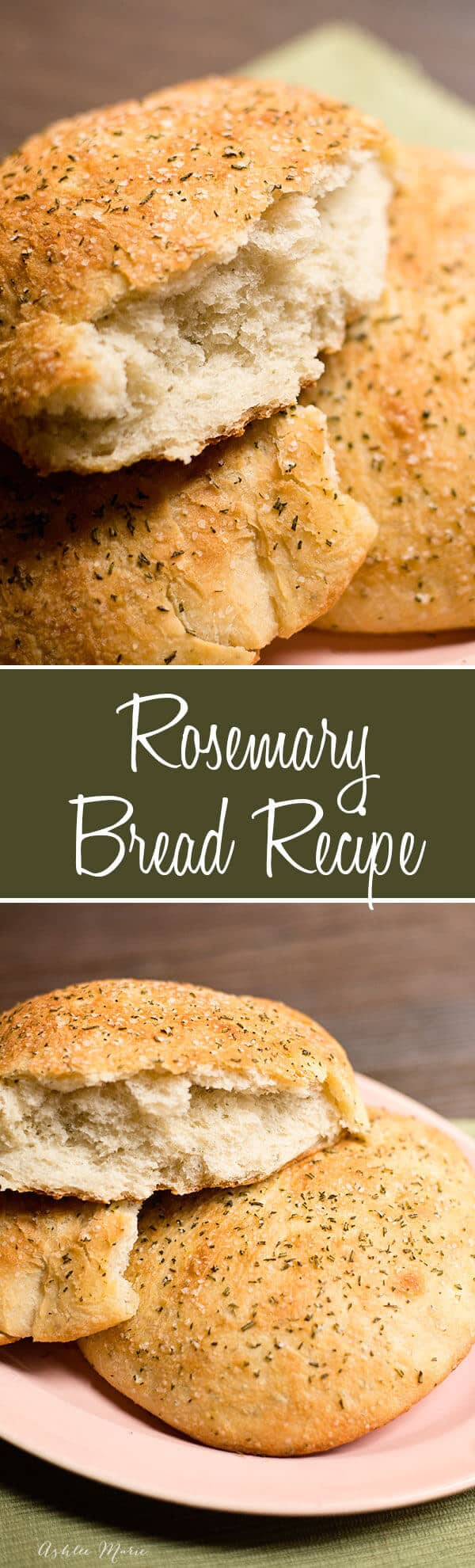 This Macaroni Grill Rosemary Bread copycat recipe is easy to make - light and soft with a great flavor - recipe and video tutorial