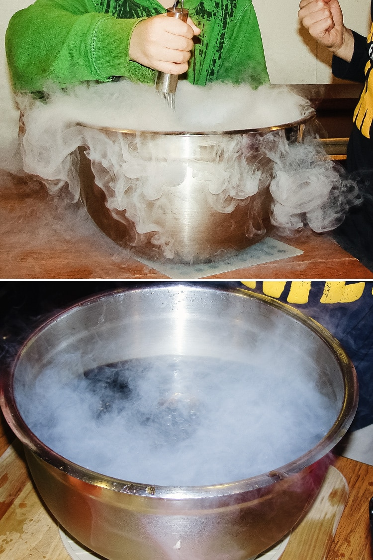 dry ice root beer
