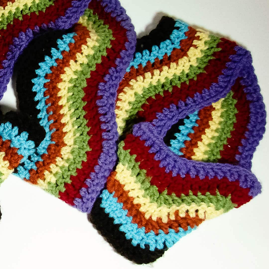 Rainbow Chevron Crochet Scarf Pattern Ashlee Marie