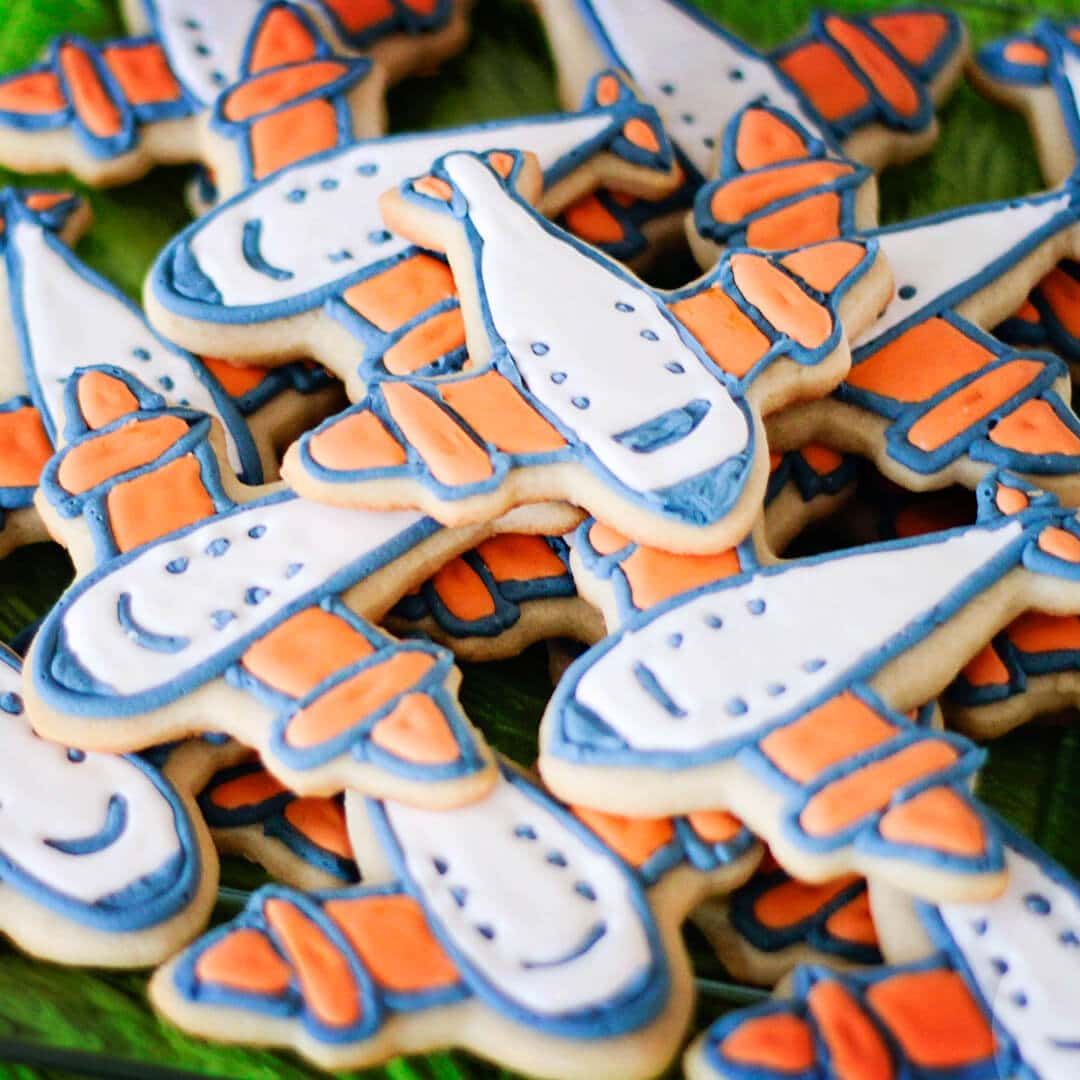 airplane sugar cookies