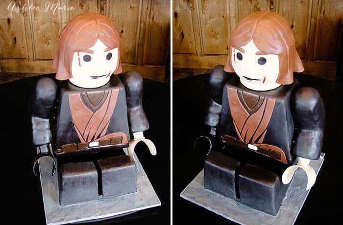 lego anakin skywalker carved cake