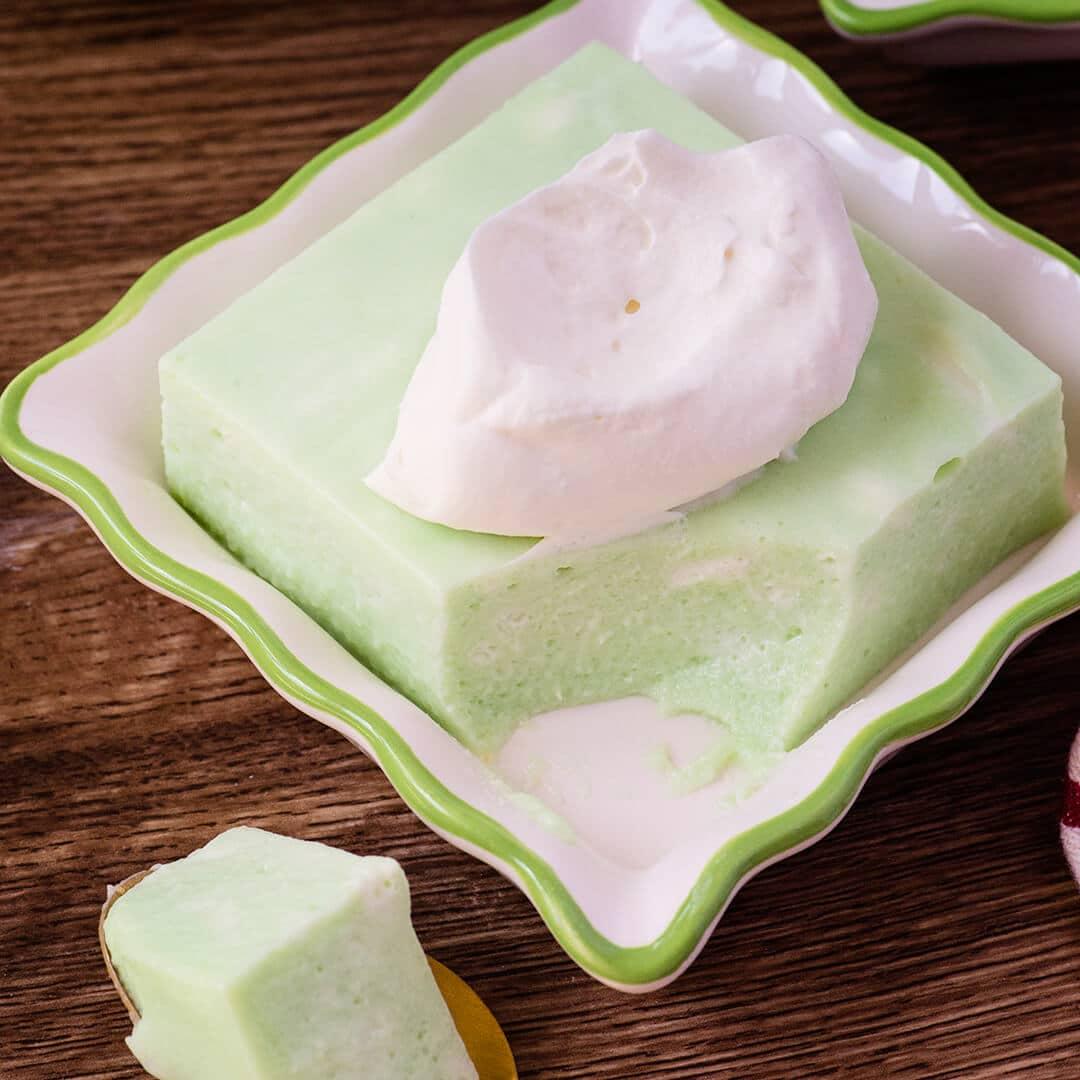 creamy lime jello dessert