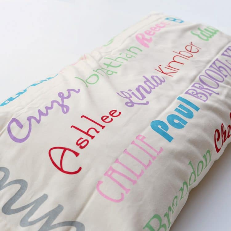 family name pillow case