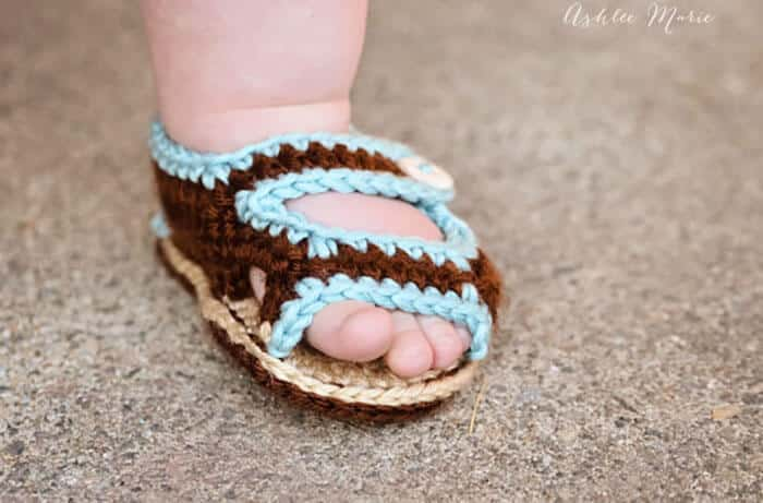 Crochet Baby Sandals Ashlee Marie