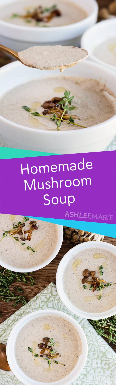 homemade mushroom bisque soup