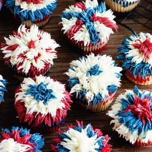 easy firework cupcakes