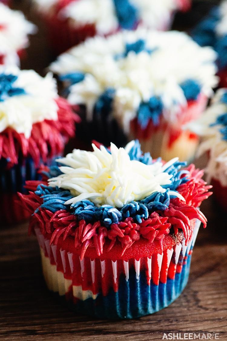 firework cupcake recipe