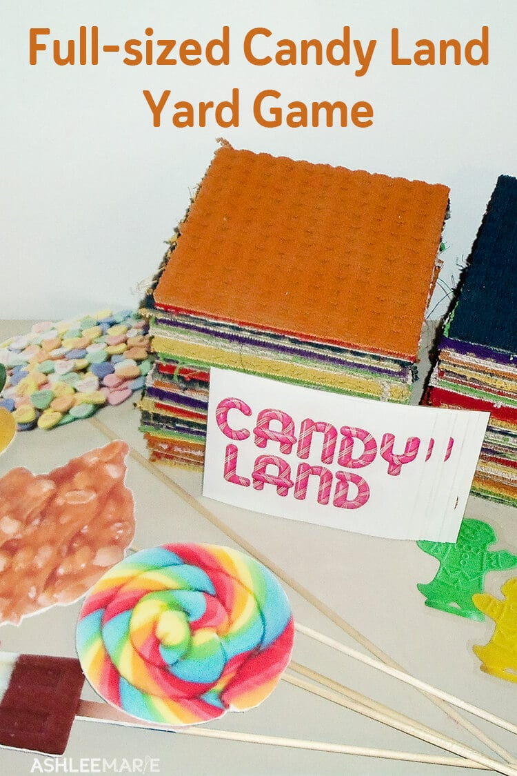 full-sized candy land yard game