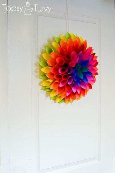 neon-Paper-dahlia-hanging