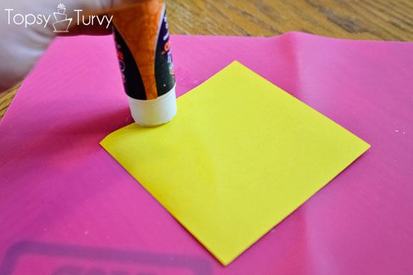 neon-Paper-dahlia-glue
