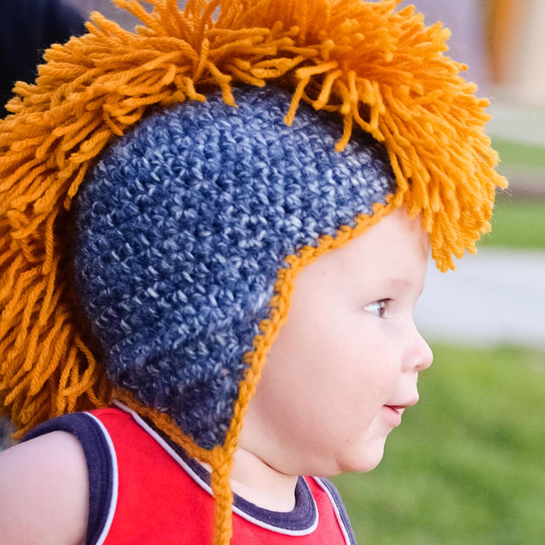 Crochet Mohawk Hat Pattern Free | Ashlee Marie - real fun with real food